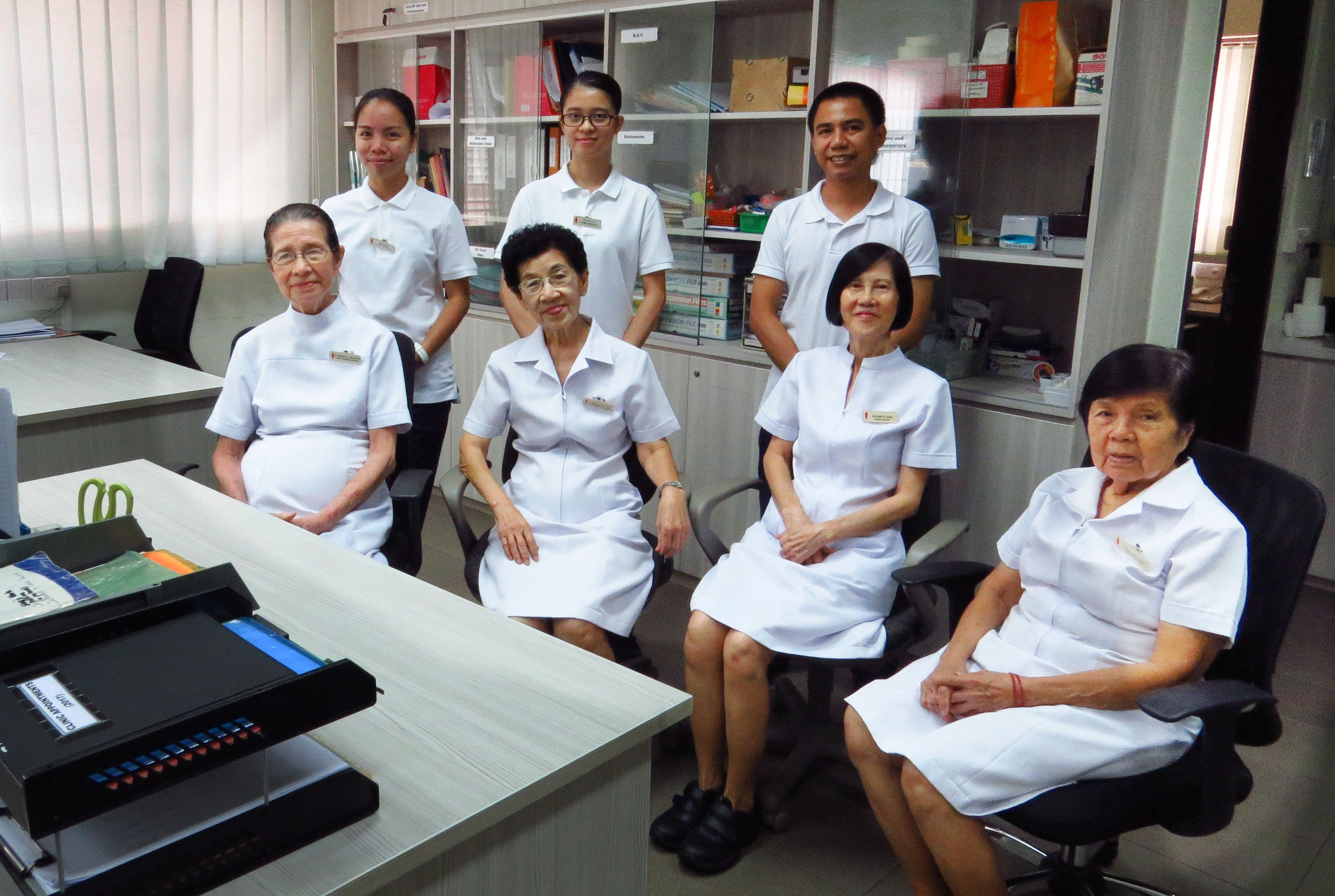 Delightful Standing From Left: Nurse Assistant Melanie, Nurse Assistant Wendy,  Enrolled Nurse Jervy Seated Nice Design